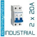 Magnetotérmico 2P 20 A (Industrial)