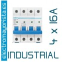 Magnetotérmico 4P 16 A (Industrial)