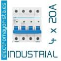Magnetotérmico 4P 20 A (Industrial)