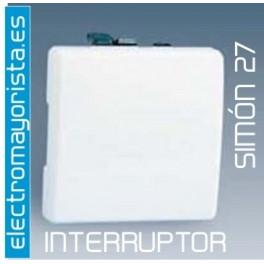 Interruptor sim n 27 tecla ancha color blanco - Interruptor simon 27 ...