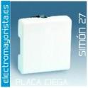 Placa ciega, Ancha Simón 27 Play Blanco