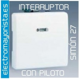 Interruptor sim n 27 con piloto - Interruptor simon 27 ...