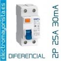 Interruptor diferencial 2 x 25 30 mA AC