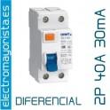 Interruptor diferencial 2 x 40 30 mA AC