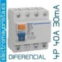 Interruptor diferencial 4 x 40 30 mA AC